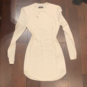 Short Long Sleeve White Dress